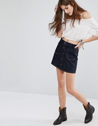 Denim And Supply Ralph Lauren By Skirt With Button Down Front Blue