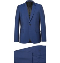 Paul Smith Blue Soho Slim Fit Wool And Mohair Blend Suit Blue