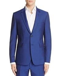 Paul Smith Royal Solid Mohair Slim Fit Sport Coat Royal Blue