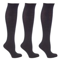 John Lewis Cotton Rich Knee High Socks Pack Of 3 Black