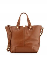 Time's Arrow Keaton Large Leather Convertible Tote Bag Tabac