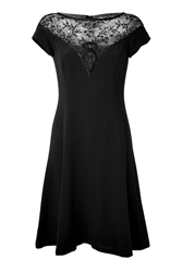 Ralph Lauren Embroidered Lace Cocktail Dress