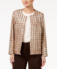 Alfani Petite Sequin Jacket Only At Macy's Metallic Cava