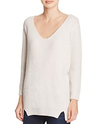 Elie Tahari Violetta Ribbed Cashmere Wool Sweater Antique
