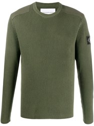 Calvin Klein Jeans Ribbed Logo Patch Jumper 60