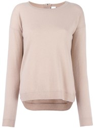 Allude Back Zip Jumper Nude Neutrals