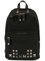 Marc Jacobs 'Recruit Chipped Studs' Canvas Backpack Black