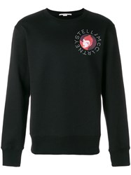 Stella Mccartney Dotted Logo Print Sweatshirt Black