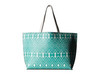 Echo Ikat Essex Reversible Tote Caribbean Blue White Tote Handbags