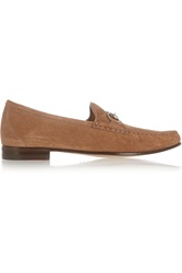 Gucci Horsebit Detailed Suede Loafers
