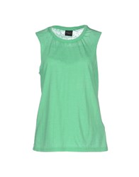 Selected Femme Topwear T Shirts Women Light Green