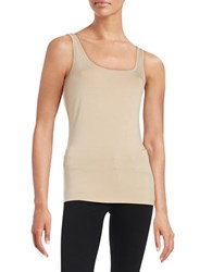 Lord And Taylor Petite Iconic Slim Fit Tank Classic Tan