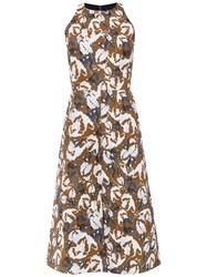 Andrea Marques Printed Dress White