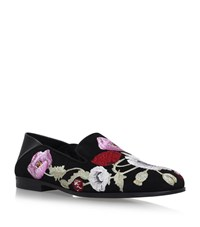 Alexander Mcqueen Floral Embroidered Loafer Female Black