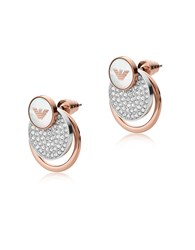 Emporio Armani Earrings Round Two Tone Signature Drop Earrings