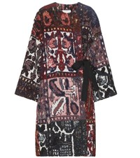 Chloe Knitted Cotton Wool And Alpaca Blend Coat Multicoloured