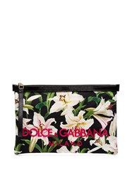 Dolce And Gabbana Lily Print Clutch Bag Green