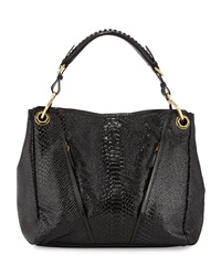 Oryany Bette Embossed Leather Shoulder Bag Black