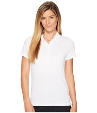 Callaway Opti Dritm Micro Hex Short Sleeve Polo Bright White Women's Short Sleeve Pullover