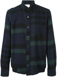 Sacai Striped Shirt Blue
