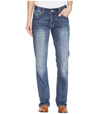Rock And Roll Cowgirl Boyfriend Fit In Medium Vintage W2 1388 Medium Vintage Women's Jeans Blue