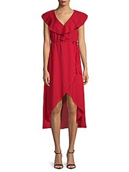 Walter Baker Mary Hi Lo Dress Red