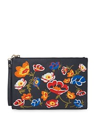 Whistles Taylor Floral Leather Wristlet Multi Gold