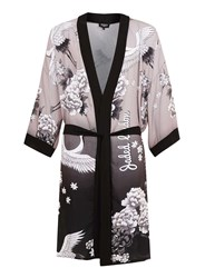 Topman Jaded London All Over Print Longline Kimono Grey