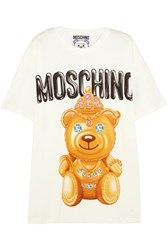 Moschino Printed Cotton T Shirt White