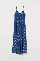 Handm H M Crinkled Dress Blue
