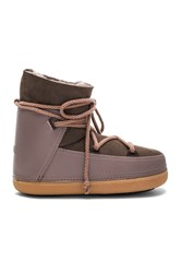 Inuikii Sneakers Classic Tall Boot With Lambskin Brown