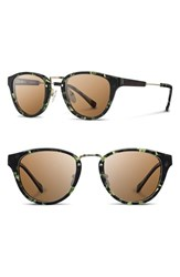 Shwood Women's 'Ainsworth' 49Mm Acetate And Wood Sunglasses Darkforest Gold Brown Darkforest Gold Brown