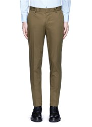Lanvin Slim Fit Ribbon Stripe Chinos Green