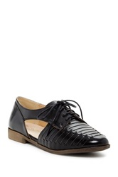 Restricted Brassy Woven Oxford Black