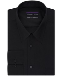 Geoffrey Beene Non Iron Bedford Cord Solid Dress Shirt Black