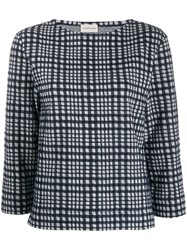 By Malene Birger Grid Knitted Top Blue