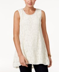Style And Co Lace Sleeveless Top Only At Macy's Vintage Cream