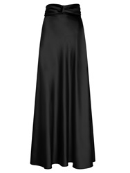 Hotsquash Silky Maxi Skirt Black