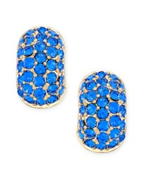 Charter Club Erwin Pearl Atelier For Gold Tone Blue Crystal Huggie Hoop Earrings Only At Macy's