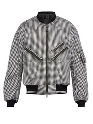 Haider Ackermann Houndstooth Bomber Jacket Black White