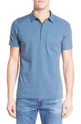 Men's Nau 'Genus' Stripe Jersey Pocket Polo Caviar
