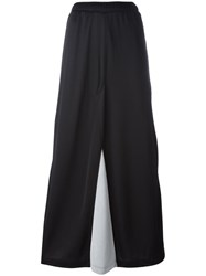 Marios Buttoned Lateral Straight Skirt Black