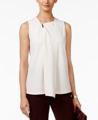 Alfani Zipped Drape Front Top Only At Macy's Pearled Ivory