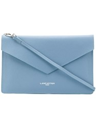 Lancaster Envelope Clutch Blue
