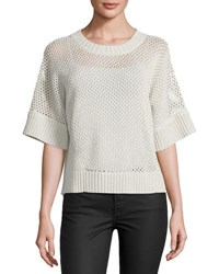Todd And Duncan Cashmere Blend Open Stitch Top Grey