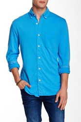Relwen Knit Button Regular Fit Shirt Blue