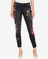 William Rast Perfect Embroidered Ankle Skinny Jeans Twilight