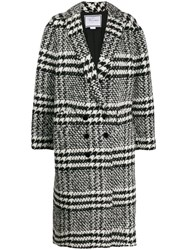 Redemption Checked Double Breasted Coat Black