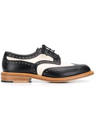 Tricker's Trickers Bicolour Derby Shoes Black