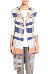 Women's Nic Zoe 'Watercolor' Long Knit Vest Multi